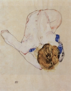 Woman's-Back-by-Egon-Schiele-1912