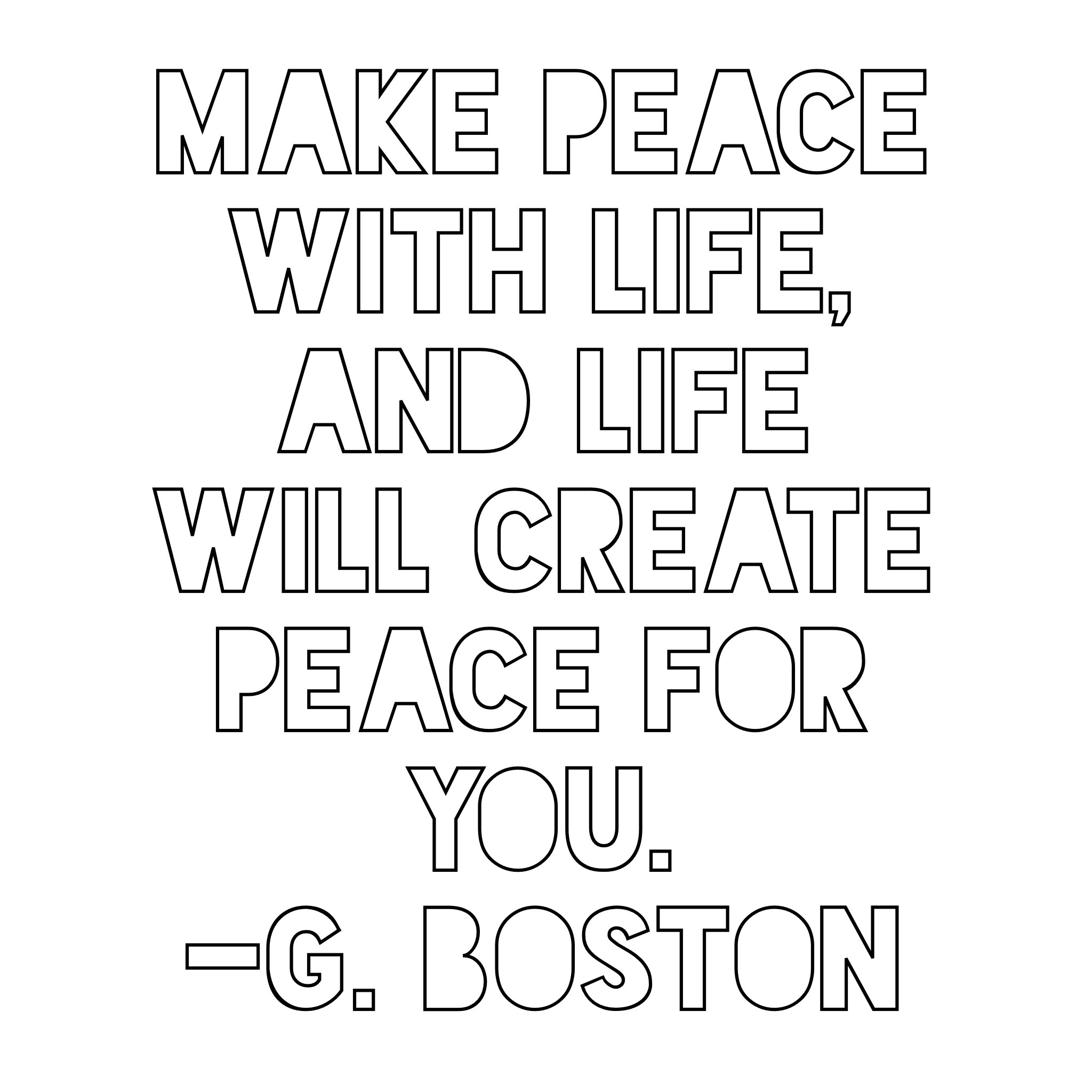 Quotes From The Vault Make Peace Musings At Random